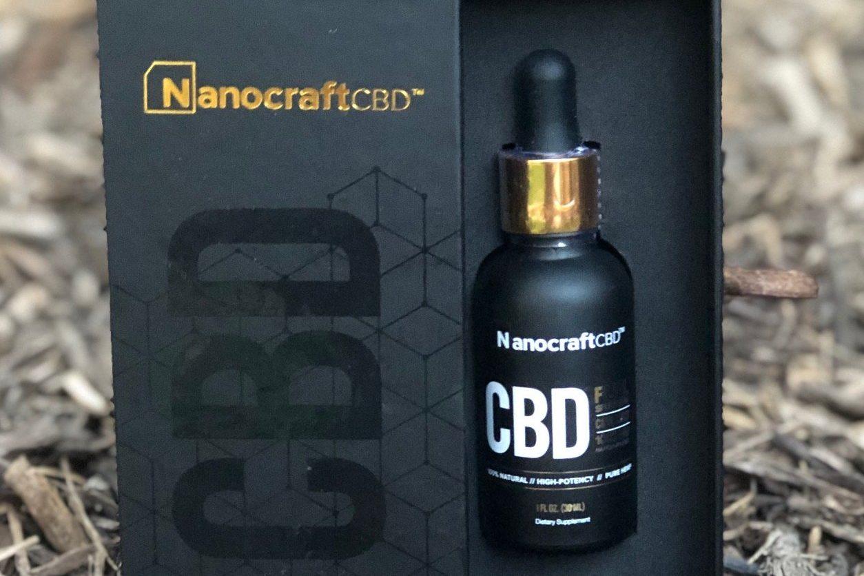 nanocraft cbd tincture outdoors