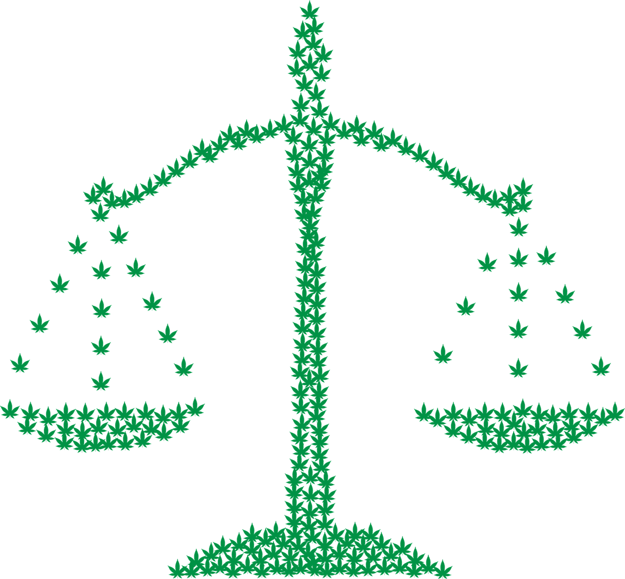 lawyer scale made from hemp leaves