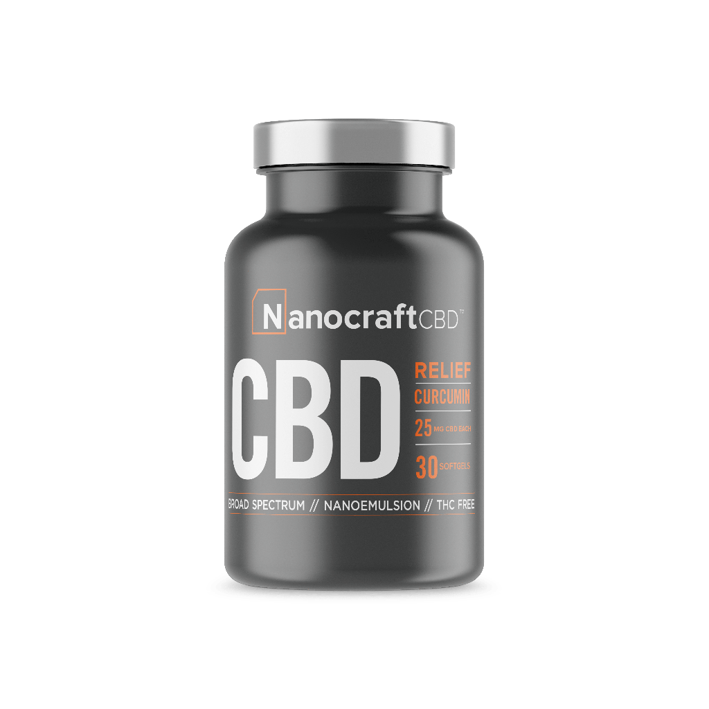 nanocraft cbd capsules in bottle