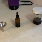 Gather a tincture bottle & funnel