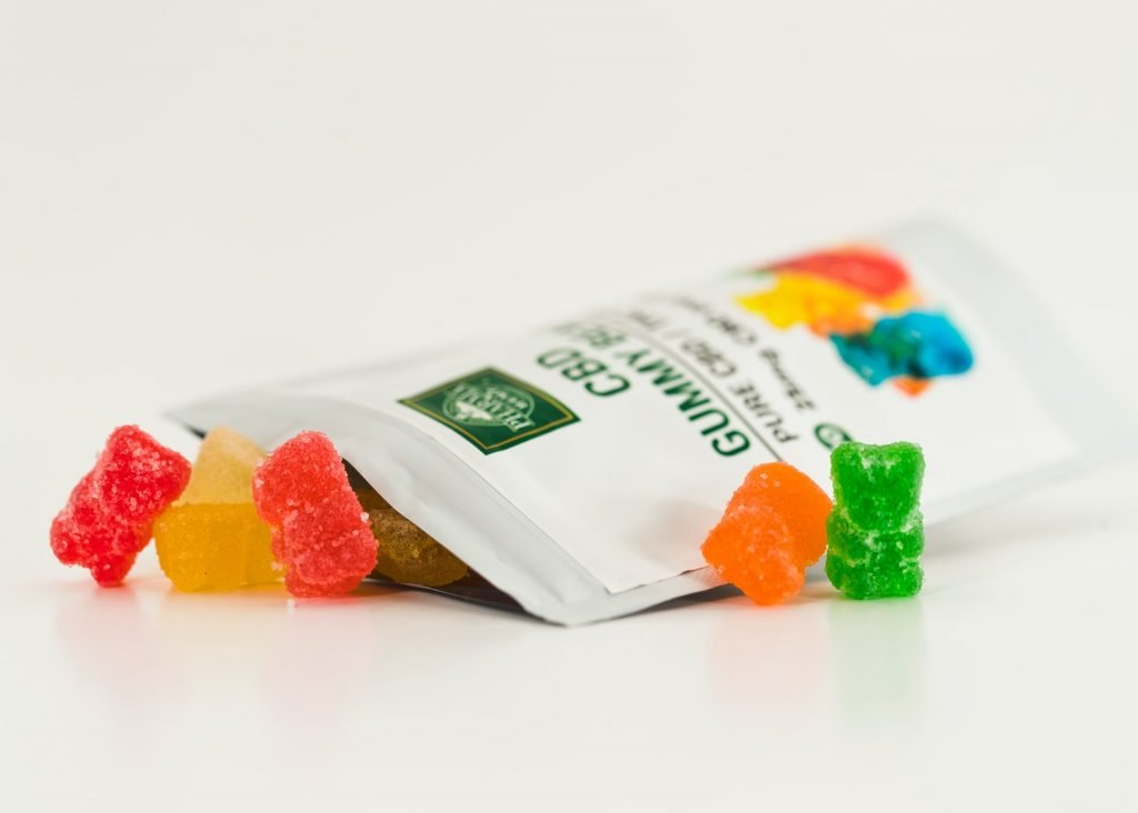 cbd infused gummie bears outside package